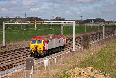 Virgin Thunderbird loco 57312 runs south, its journey details are not known.