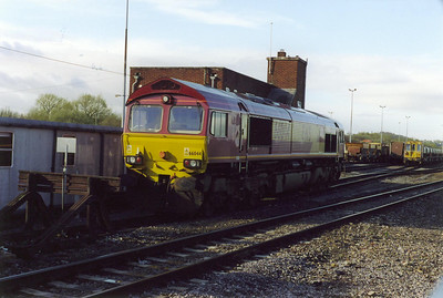66044 sits idle at the stabling point beside the station. It did not move all day.