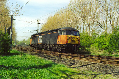 The line from Millerhill Yard to the south runs past Old Craighall, Loadhaul 56055 heads away from the yard to the south light engine. It is running as 0D68 from Millerhill to Oxwellmains Cement Works.