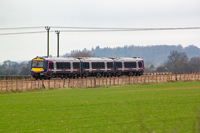 Moving away from Alloa and a little closer to Stirling and 170456 is seen again heading away and back to Glasgow. It passes through the area of Criagmill as 2N58 1243 from Alloa.