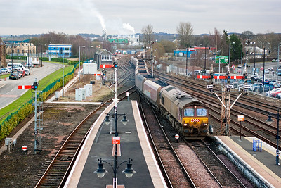 66249 is routed via platform 6 which is bi-directional. Distant arm SN10 has managed to rise again.