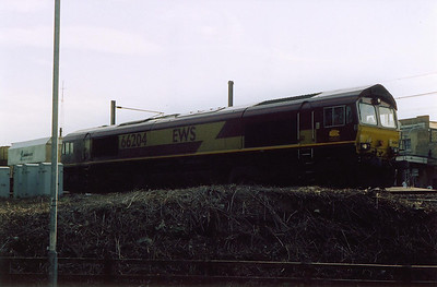 66204 gets away from Ely with an unknown working of Lafarge stone hoppers.