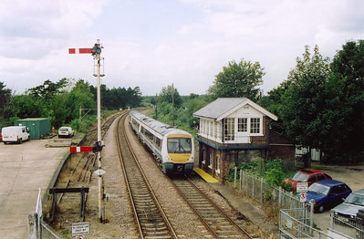 Thetford is the location now and 170207 comes to a stand beside the former Great Eastern Railway signalbox. The signalman speaks to the driver of 1P80 1255 Cambridge to Norwich.