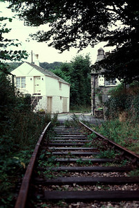 The track of the wenfordbridge branch  was in place for a number of years after closure and is now a cycle way  3/9/85