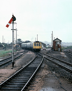 51312 59551 51327 on St Ives Branch leaving St Erth 4/9/85
