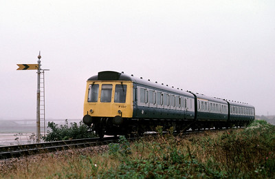 51312 59551 51327 on St Ives Branch approaching St Erth	4/9/85