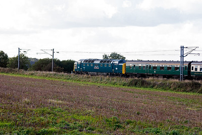 One last shot of 55022 working to the tour to Edinburgh.  The trip also included runs to Thurso and the Kyle of Lochalsh.  Ross and I would see the tour again this day as 40145 took it through Fife, see https://www.jules-merlin27.com/Railways/English-Electrics-in-the/i-Lm7tXLz/A