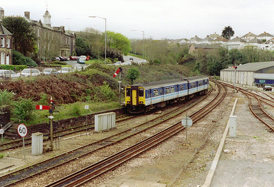150248 is tasked with running the Falmouth Docks branch on this day. Here it departs Truro at 1240 for the 23 minute run to Falmouth Docks.