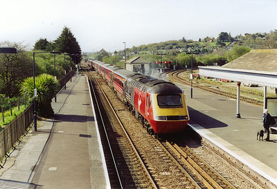 Virgin Cross Country services also serves Par with 43071 leading a stopping service, 1S35 0922 Penzance to Edinburgh, The Cornishman, what a journey??