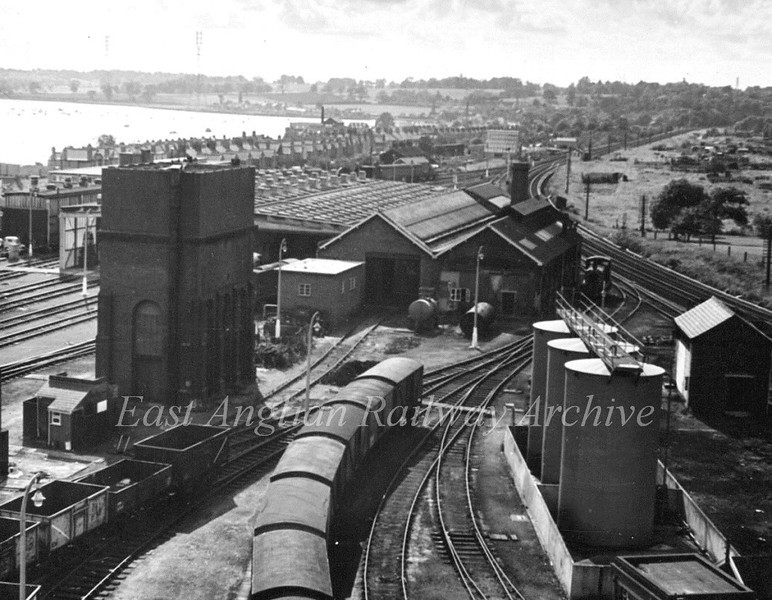 Ipswich Loco Shed and Yard. September 1965