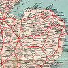 London and North Eastern Railway. Map of East Anglia -1930