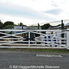 The level crossing gate at Brookeborough Station, County Fermanagh.