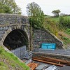 The overbridge at the  former Railway Station in Lawrencetown, County Down<br /> Sunday, 26th April 2015