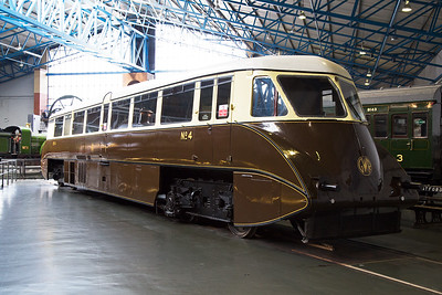 In 1933 the Great Western Railway introduced a fleet of diesel railcars, totalling 38 in all.  This example was built by Park Royal in 1934 and by 1962 all had been withdrawn.