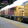 Roma Street station - Sundowner arriving loco 2392