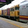 Roma Street station - Sundowner arriving Loco 1742D  2nd engine