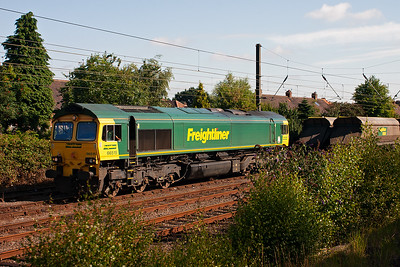 At the south end of York's Holgate Sidings is 66515.