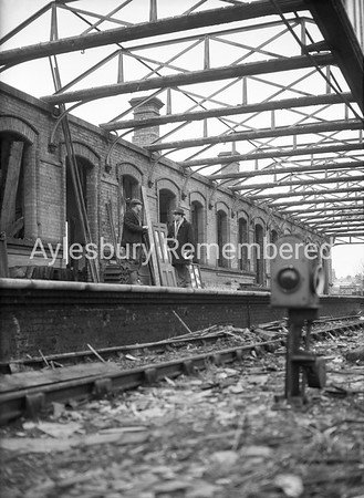 High Street Station demolition, Jan 1960
