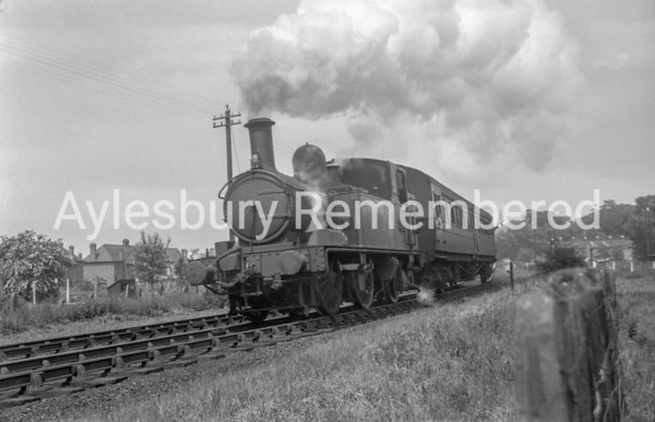 Princes Risborough train leaving Aylesbury Town, June 11th 1948
