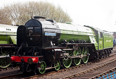 A2 60532 has been cosmetically restored and painted into Apple Green livery with British Railways written on the tender especially for this gala.