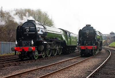 This day is the Friday and a private photo charter had the run of the shed and the locos.