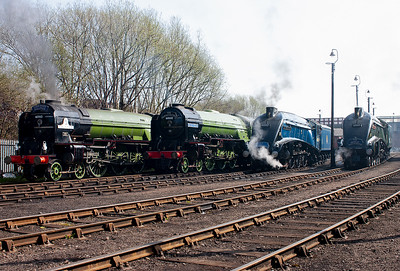 If Flying Scotsman, Bittern and Mallard could have attended also, it would have been a line up never to be surpassed.....until the next LNER rebuild comes along!!