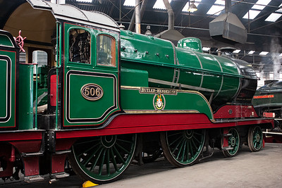 506 is part of the National Collection and is a class D11/1 Director built for the Great Central Railway and is named Butler Henderson.