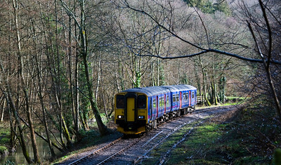 As part of its Multiple Unit Festival, the Dean Forest Railway ran a First Great Western service from Gloucester to Parkend. Here 150244 can be seen at Upper Forge.