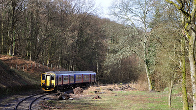 As part of its Multiple Unit Festival, the Dean Forest Railway ran a First Great Western service from Gloucester to Parkend. Here 150244 can be seen having passed Upper Forge.