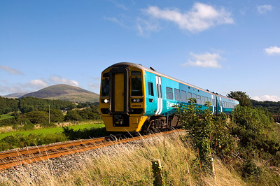 158829 with the 12:08 Birmingham International to Pwllheli service. Seen here just before arriving at Pensarn station which is stop by request. Nobody requested it.