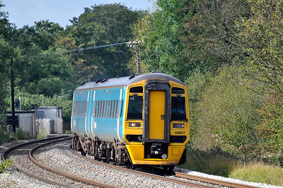 158837 with 2G56 09:15 Maesteg to Cheltenham Spa service near Naas Lane.