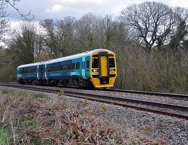 158822 with the 2L53 1045 Cheltenham Spa to Maesteg near Purton.