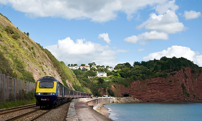 First great Western's 10:48 London Paddington to Plymouth service at Teignmouth.