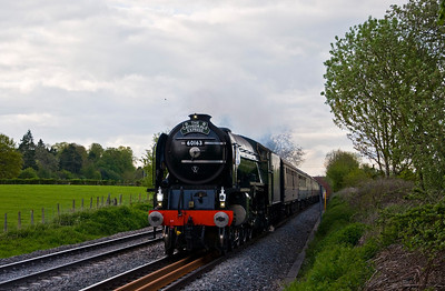 "60163 ""Tornado"" with a special from Paddington to Shrewsbury via the Marches on the 12th of May 2012. Seen here just north of Ashford Bowdler on the return journey."