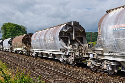China clay wagons on the 6M60 Exeter Riverside to Bescot service.
