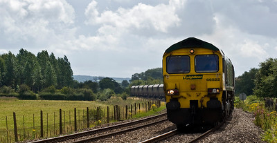 66522 with the 6M04 Portbury to Rugeley coal service. Seen here approaching Moreton on Lugg.