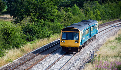 142085 with the 16:23 Cardiff Central to Cheltenham Spa service. Seen here approaching Cockshoot Bridge.