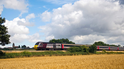 43384 with the 09:00 Leeds to Plymouth service. Seen here on the 28th July 2013 near Churcham, on diversion due to engineering works near Bristol.