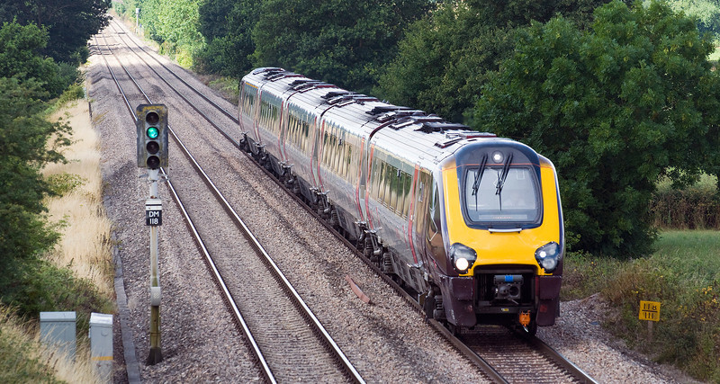 The 10:30 Bristol Temple Meads to Aberdeen service. Seen here on the 28th July 2013 near Churcham, on diversion due to engineering works near Bristol.