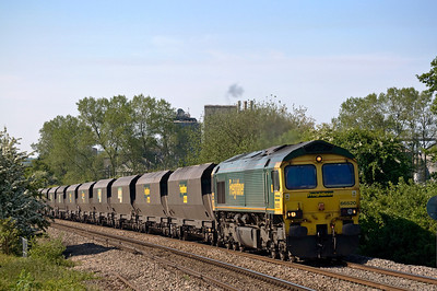 66520 with the 07:00 Portbury  to Rugeley B Power Stn. Seen here just north of tram Inn on the 7th of June 2013.