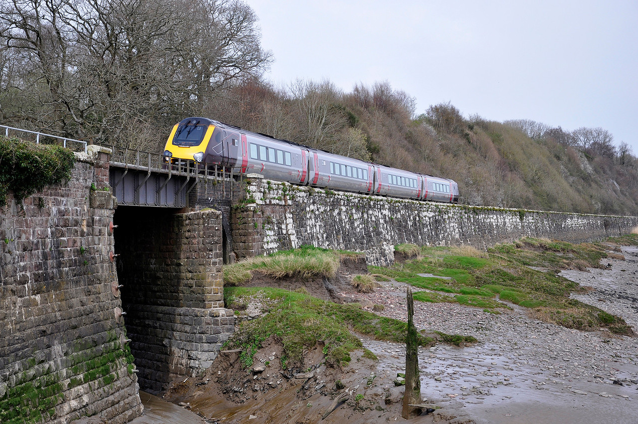CrossCountry Voyager with the 09:33 York to Exeter St Davids service on diversion, seen here at Purton.