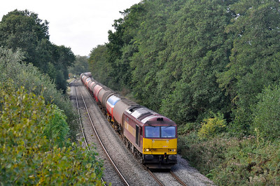 60071 with 6B13 Robeston to Westerleigh tanks om the 21/9/2011 near Naas Lane crossing.