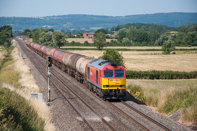 60 044 with the Robeston - Westerleigh Murco Tanks at Churcham 02/07/18
