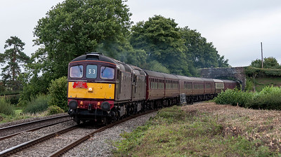 Branch Line Society's excursion run by West Coast Railways . Running from Crewe to Carmarthen. seen here at Coed More Farm.