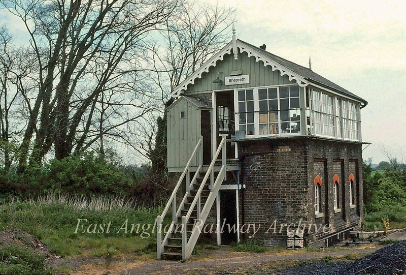 Shepreth Signal Box.  18th May 1980