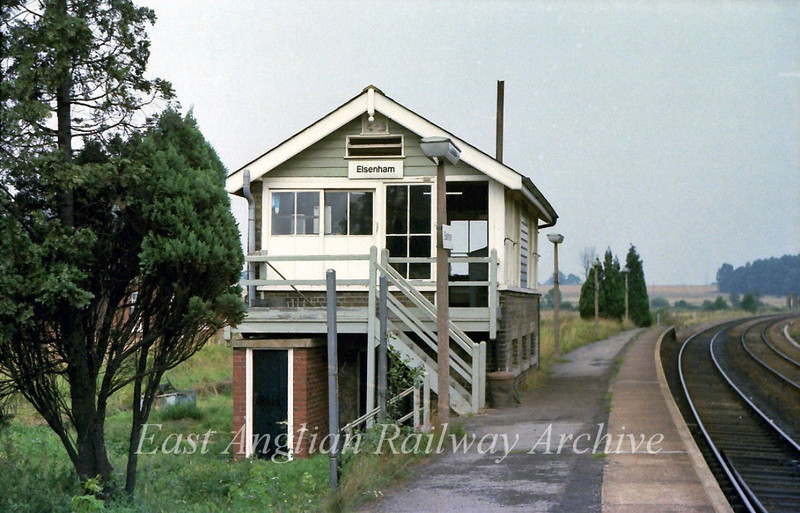 Elsenham Signal Box.  31st August 1979