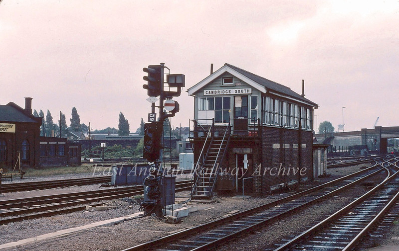 Cambridge South Signal Box   c1980