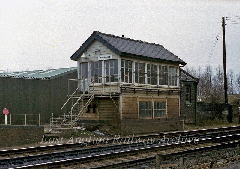 Whittlesford Signal Box.  19th February 1978.