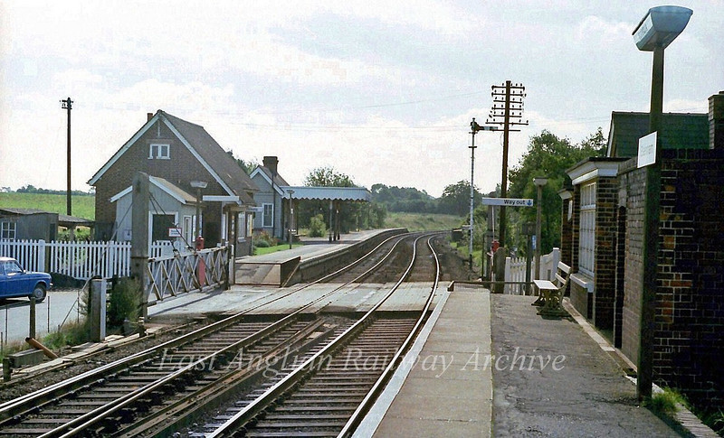 Elsenham looking South.  9th September 1978