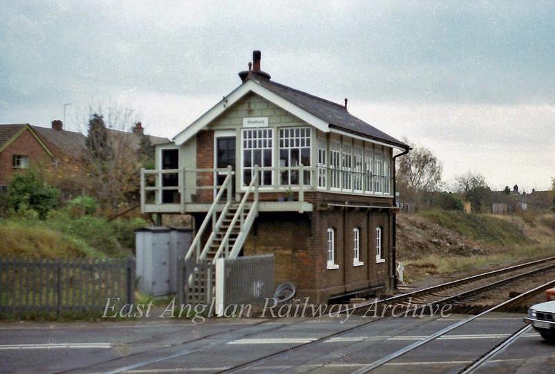 Shelford Signal Box.  21st November 1978. A bit of camera shake here unfortunately.
